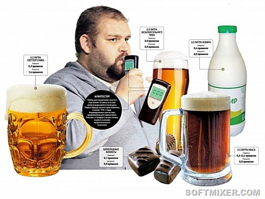 Как сделать чтобы трубка не показала алкоголь 123